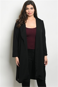 SA4-0-5-C8439X BLACK PLUS SIZE CARDIGAN 2-2-2