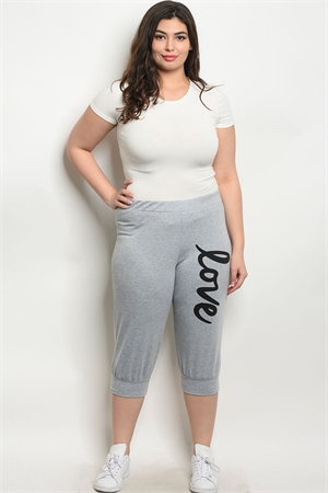C16-A-3-P0309X GRAY PLUS SIZE PANTS 2-2-2