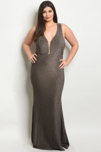 S21-11-3-D1052X BRONZE PLUS SIZE DRESS 2-2-2