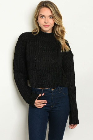S22-3-3-S20741 BLACK SWEATER 3-2-1