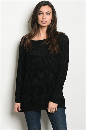 S12-3-2-S21173 BLACK SWEATER 3-2-1