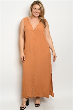 S11-19-1-D17214X APRICOT PLUS SIZE DRESS 2-2-2