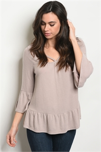 C29-B-2-T4953 TAUPE TOP 2-2-2