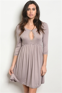 S10-19-3-D3003 TAUPE DRESS 3-2-2