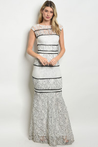 S11-11-2-D24625 WHITE BLACK DRESS 2-2-2
