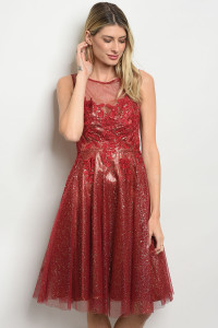 S21-12-4-D24267 BURGUNDY GOLD DRESS 2-1-1