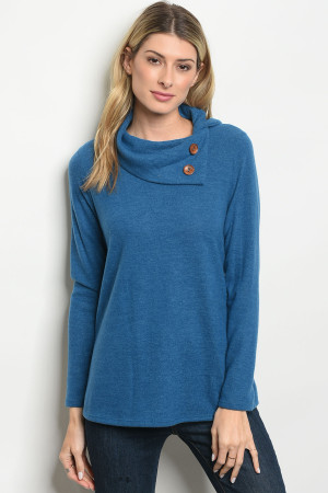 C34-B-5-T2516 TEAL SWEATER 3-2-1