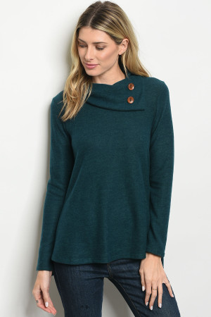 C40-B-4-T2516 HUNTER GREEN SWEATER 3-2-1