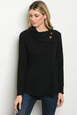 C40-B-7-T2516 BLACK SWEATER 3-2-1