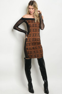 C101-A-3-D506821 BLACK CAMEL DRESS 3-2-1
