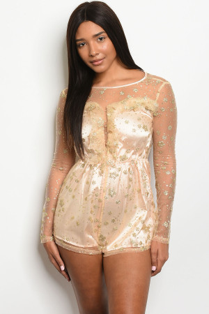 S24-3-1-R40099 NUDE GOLD ROMPER 2-2-2  ***WARNING: California Proposition 65***