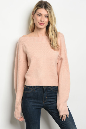 S22-1-4-T0025 BLUSH SWEATER 4-2-1