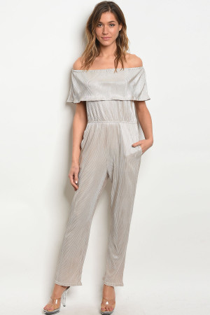 S11-18-5-J6073 CHAMPAGNE OFF SHOULDER JUMPSUIT 2-2-2