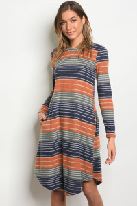 C76-A-1-D3892109 EARTH NAVY DRESS 1-2-3