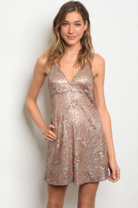 S22-7-5-D4455 BLUSH SILVER WITH SEQUINS DRESS 2-2-2