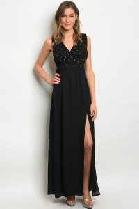 S21-11-3-D7889 BLACK GOLD DRESS 3-2-1