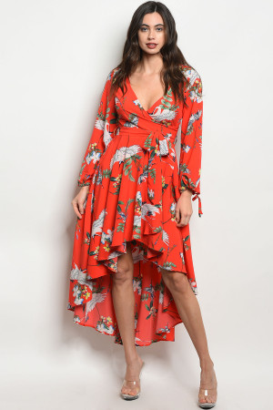 S11-18-5-D0019 RED FLORAL DRESS 2-2-2