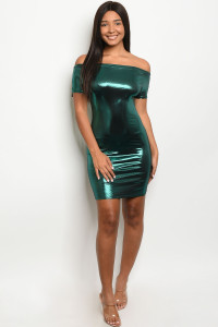 C17-A-6-D2362 GREEN METALLIC DRESS 2-2-2