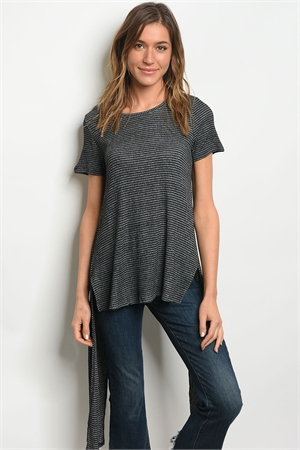 S21-12-3-T64923 BLACK GRAY TOP 1-2-1