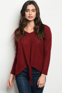 S22-6-5-T5057 BURGUNDY TOP 3-2-2