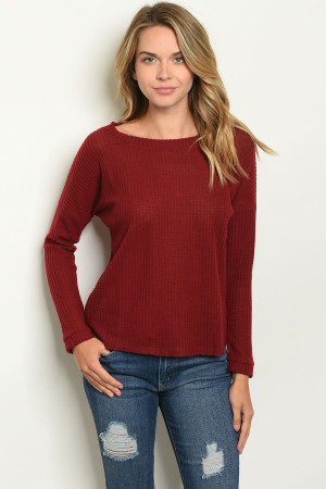 S11-15-5-T4858 BURGUNDY TOP 2-2-2