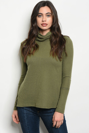 S11-14-4-T4759 OLIVE TOP 2-2-2