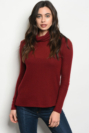 S11-14-5-T4759 BURGUNDY TOP 2-2-2