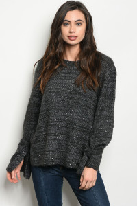 S21-7-3-S6523 CHARCOAL SWEATER / 3PCS