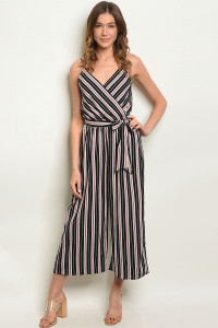 S11-11-2-J400368 BLACK STRIPES JUMPSUIT 2-2-2