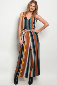 S22-12-4-J3072 CAMEL STRIPES JUMPSUIT 3-1