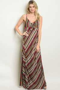 S21-10-4-D2553 RED MULTI DRESS 1-2-2