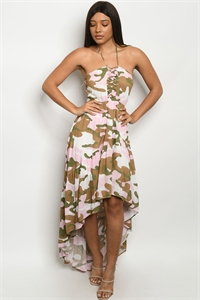 S14-1-3-D20547 PINK CAMOUFLAGE DRESS 2-2-2
