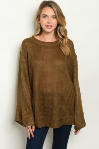S13-3-3-T21957 OLIVE SWEATER 2-2-2