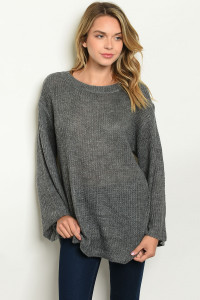S14-2-2-T21957 GRAY SWEATER 2-2-2