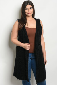 S22-12-4-V10717X BLACK PLUS SIZE VEST 4-3