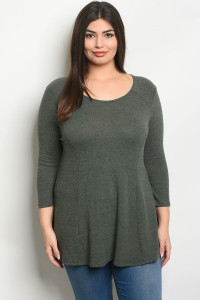 C40-A-1-T22749X GRAY PLUS SIZE TOP 3-2-2