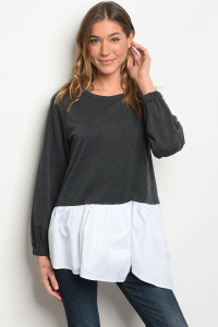 S11-13-4-T2511 CHARCOAL WHITE TOP 2-2-2