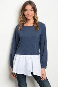 S21-8-6-T2511 NAVY WHITE TOP 2-2-2