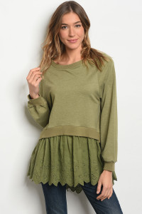 S20-4-1-T2387 OLIVE TOP 2-2-2