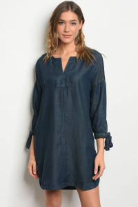 S21-12-5-D2831 DENIM WASH DRESS 1-2-2-1