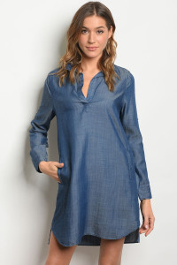 S21-12-5-D2036 DENIM BLUE DRESS 1-2-2-1