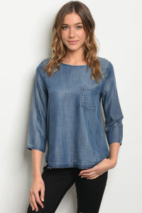 S21-12-5-T3320 DENIM BLUE TOP 1-2-2-1