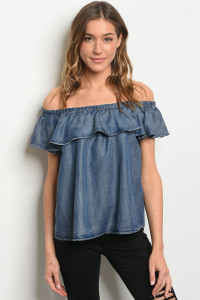 S20-10-4-T3139 BLUE DENIM TOP 1-2-2-1