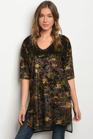 C58-A-1 T3709 BROWN CAMOUFLAGE TOP 2-2-2