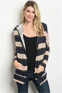 S21-4-5-J8087 NAVY TAUPE JACKET 2-2-2