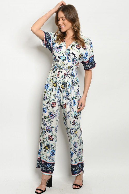 SA3-000-2-J51623 OFF WHITE FLORAL JUMPSUIT 2-2-2
