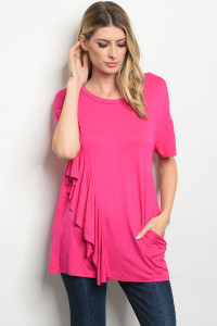 C70-B-6-T3054 FUCHSIA TOP 2-2-2