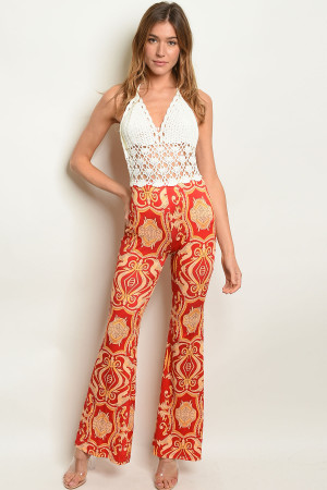 S20-5-5-J201574 IVORY RED PRINT JUMPSUIT 2-2-2