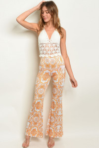 S20-5-5-J201574 IVORY OFF WHITE PRINT JUMPSUIT 2-2-2