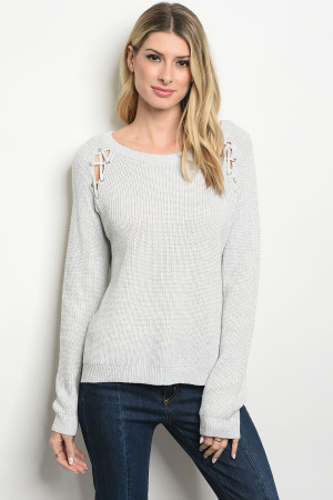 S19-12-5-T311 GRAY SWEATER 2-1-4